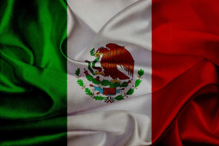 Mexico grunge waving flag