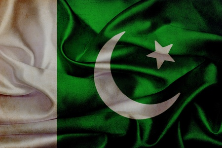 Pakistan grunge waving flag photo
