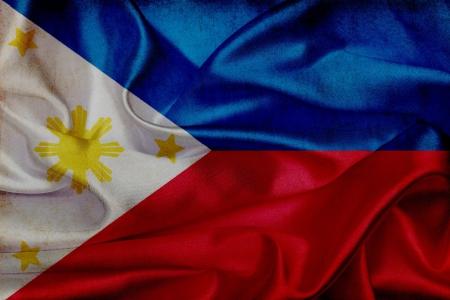 philippines flag: Philippines grunge waving flag