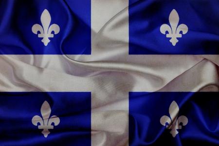 Quebec grunge waving flag photo