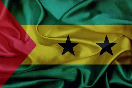 tomo: Sao Tome e Principe grunge bandiera sventola