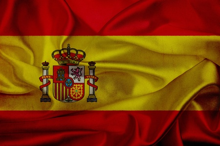 Spain grunge waving flag photo