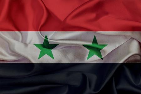 Syria grunge waving flag photo