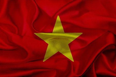 Vietnam grunge waving flag photo