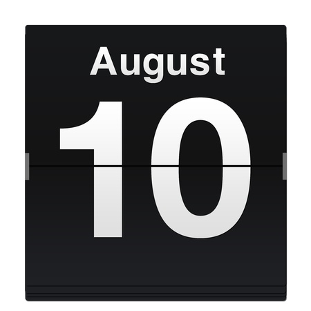 flip down calendar date icon photo