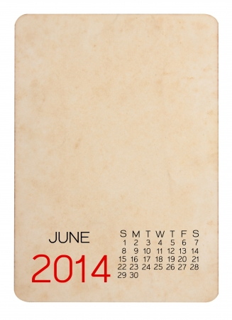 Calendar 2014 on the Empty old photo photo