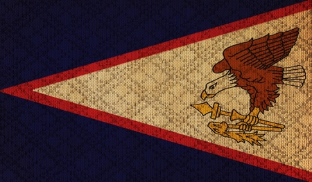samoa: American Samoa grunge canvas flag