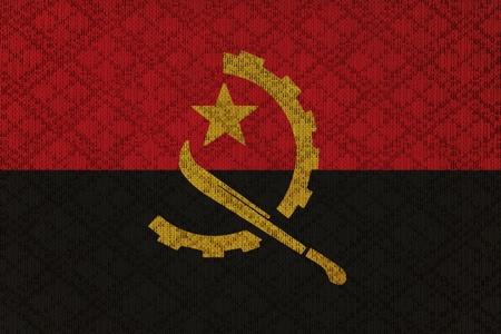 angola: Angola grunge canvas flag