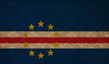 cape verde: Cape Verde grunge canvas flag
