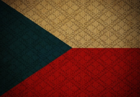 Czech Republic grunge canvas flag photo