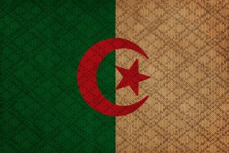 Algierski: Flaga grunge płótno Algierii