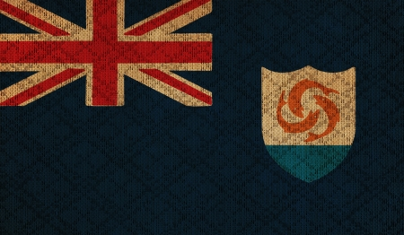 Anguilla grunge canvas flag photo