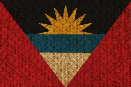 antigua flag: Antigua and Barbuda grunge canvas flag
