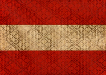 Austria grunge canvas flag photo