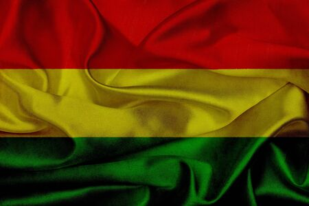 Bolivia grunge waving flag photo