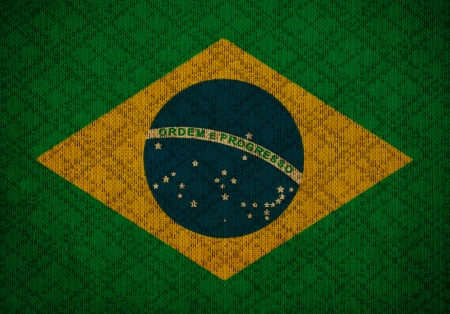 Brazil grunge canvas flag photo