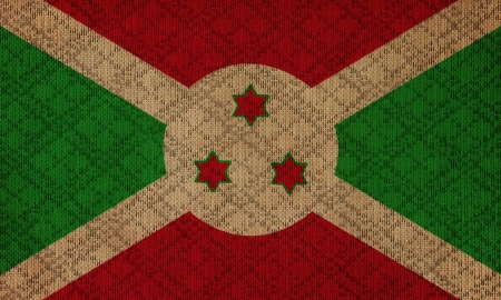 burundi: Burundi grunge canvas flag Stock Photo