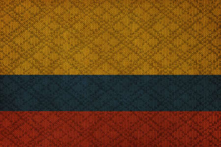 Colombia grunge canvas flag photo