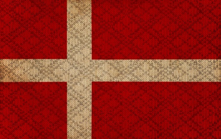 denmark grunge canvas flag Stock Photo - 21136086