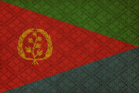 eritrea: Eritrea grunge canvas flag