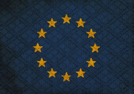 European Union countries grunge canvas flag photo
