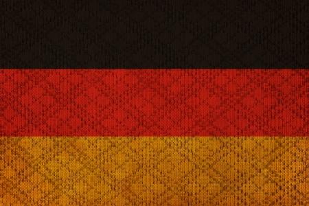 German grunge canvas flag photo