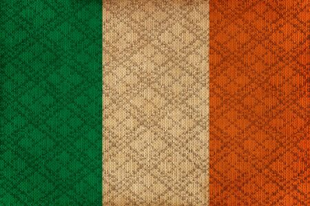 Ireland grunge canvas flag photo