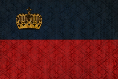 liechtenstein: Liechtenstein grunge canvas flag Stock Photo