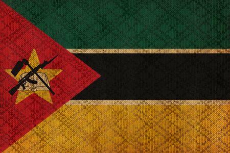 Mozambique: Mozambique grunge canvas flag