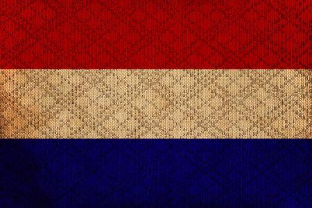 Netherlands grunge canvas flag photo
