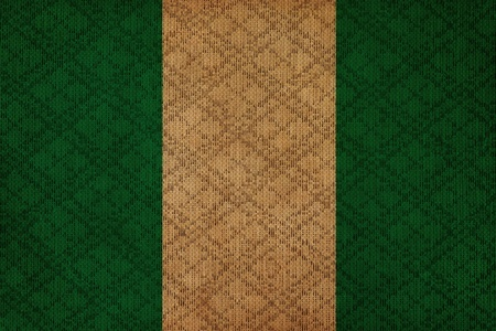 Nigeria grunge canvas flag photo