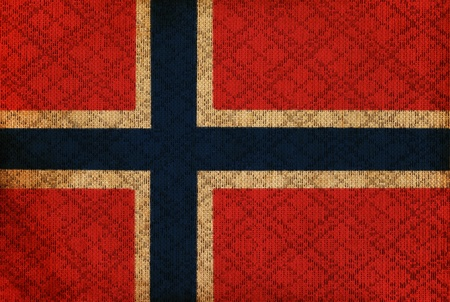 Norway grunge canvas flag photo