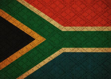 South Africa grunge canvas flag photo