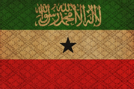 somaliland: Grunge sovereign state flag of country of Somalia in official colors  Stock Photo