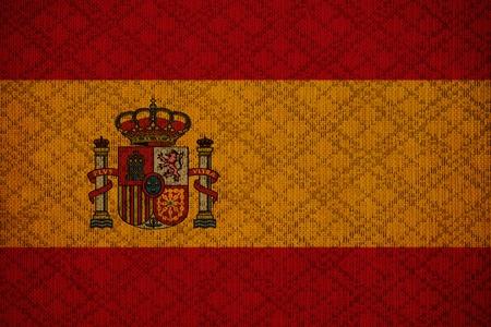 Spain grunge canvas flag photo
