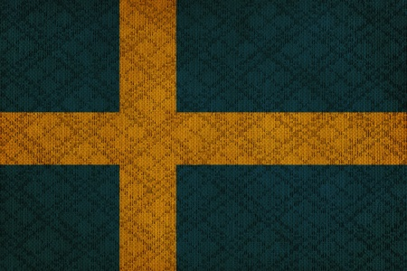 sweden grunge canvas flag photo