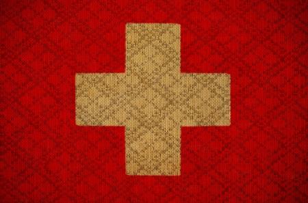 eec: Switzerland grunge canvas flag Stock Photo