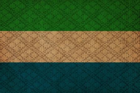 Sierra Leone grunge canvas flag photo