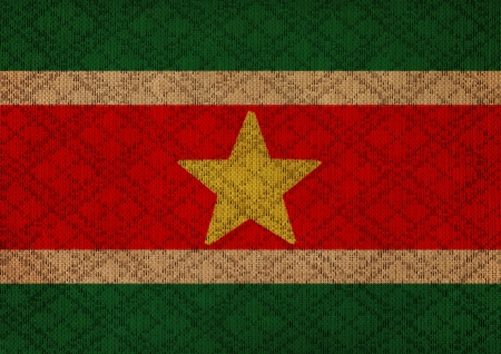 suriname: Suriname grunge canvas flag