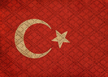 Turkey grunge canvas flag photo