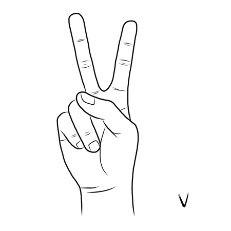 gestural: Sign language and the alphabet
