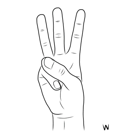 nonverbal: Sign language and the alphabet