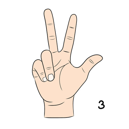 demonstrate: Sign language and the alphabet,3 Illustration