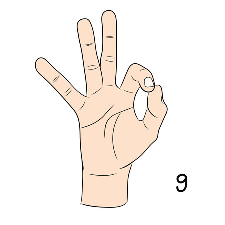 Sign language and the alphabet,9 Vector