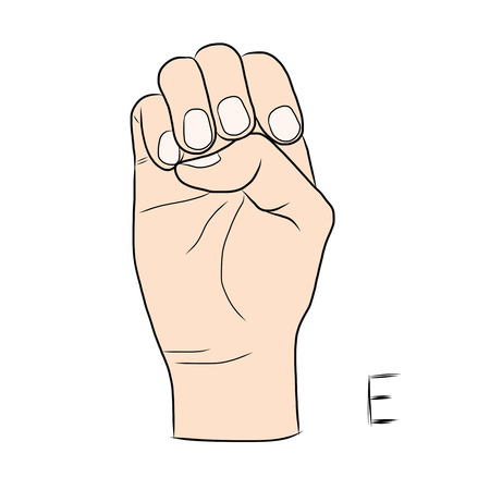 gestural: Sign language and the alphabet,The Letter e