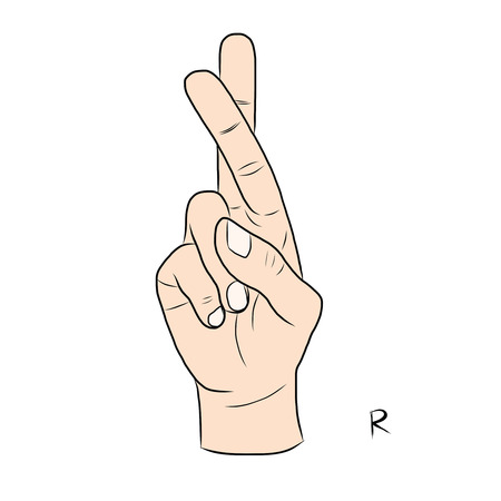 gestural: Sign language and the alphabet,The Letter r