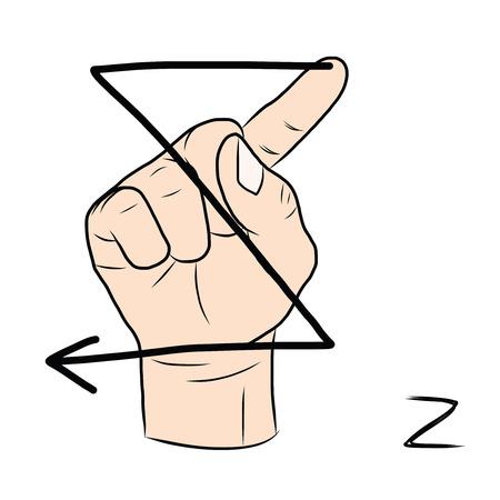Fabuleux La Langue Des Signes Et L'alphabet, La Lettre M Clip Art Libres De  PO61