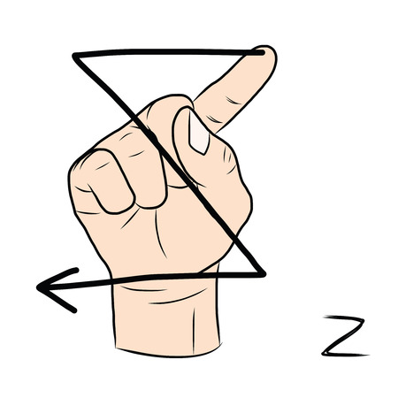 nonverbal: Sign language and the alphabet,The Letter Z