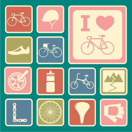 biking glove: bicycle icons