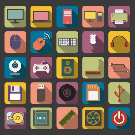 flat computer icon photo